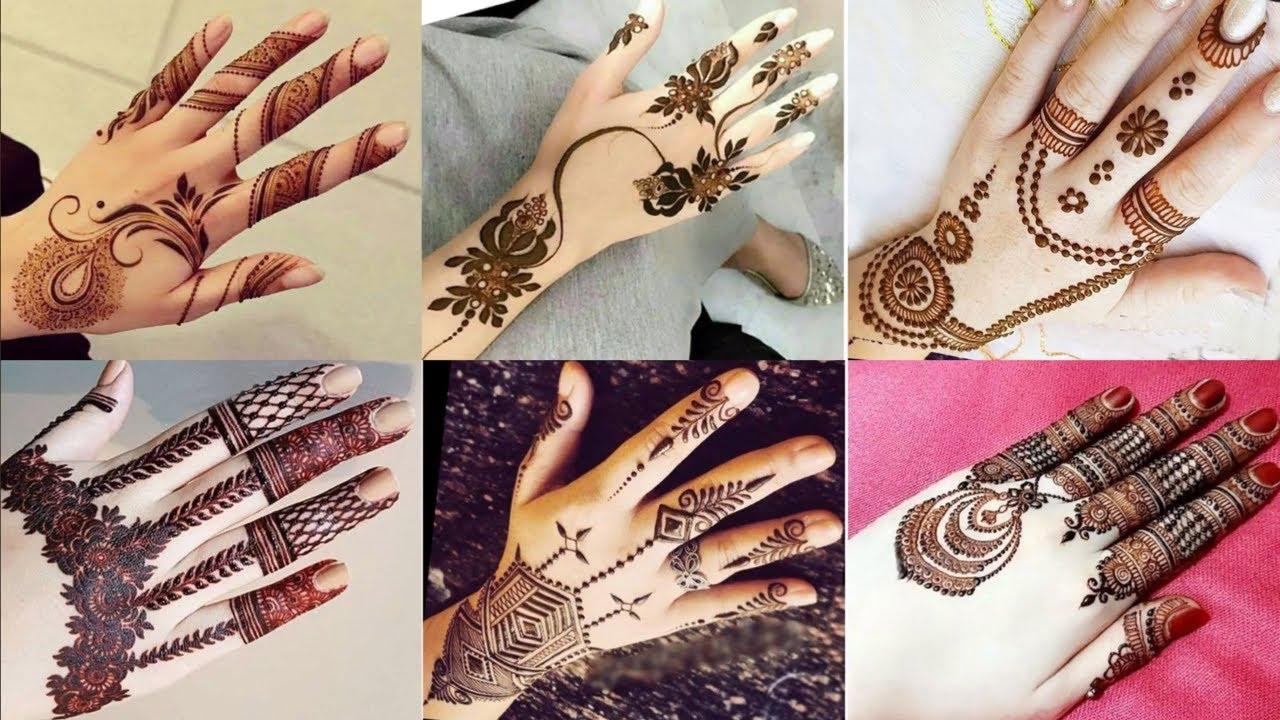 new stylish mehndi design images